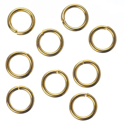 7mm Gold Jump Rings 25/pk