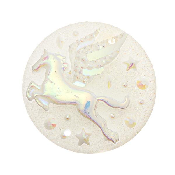 25mm Round White Pegasus Resin Cabochons 10/pk