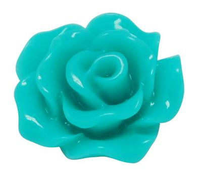 10mm Light Sea Green Flower Resin Cabochons 10/pk