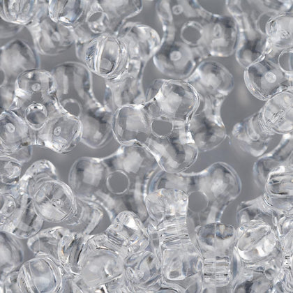 11mm Plastic Tri-Beads 900/pk - Crystal