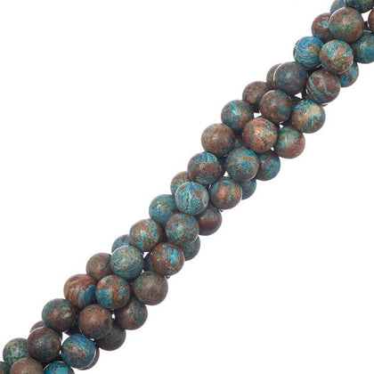 6mm Chrysocolla (Natural/Dyed) Beads 15-16