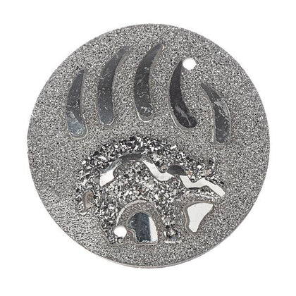 25mm Round Silver Bear/Claws Resin Cabochons 10/pk