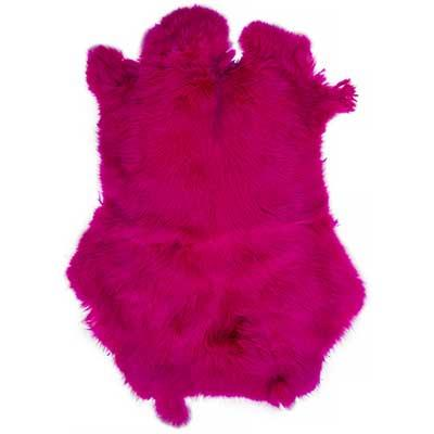 Rabbit Fur Pelt Dyed Fuchsia