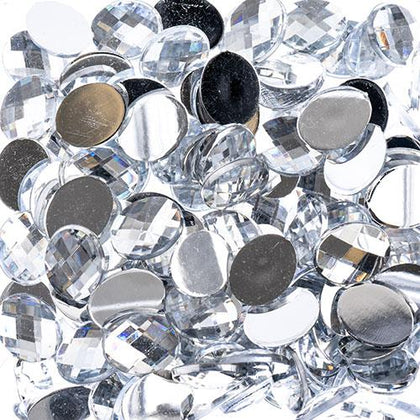 Flat Back Rhinestones Oval 8x10mm Crystal 200/pk
