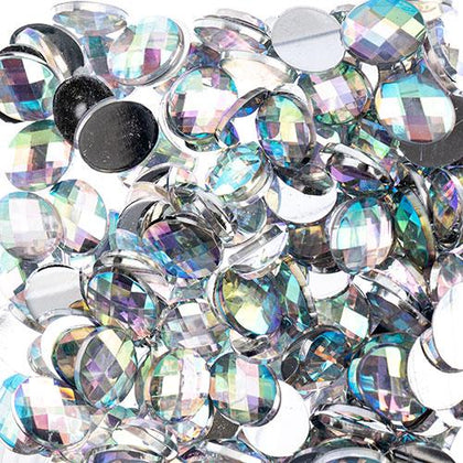 Flat Back Rhinestones Oval 8x10mm Crystal AB 200/pk