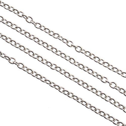 Chain Rolo 2.5x2mm Stainless Steel 1m