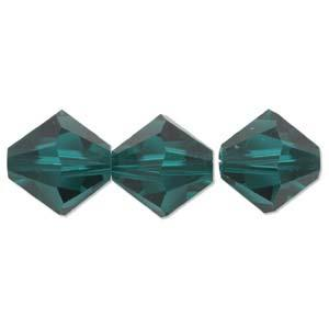 8mm Emerald Swarovski Bicone Each