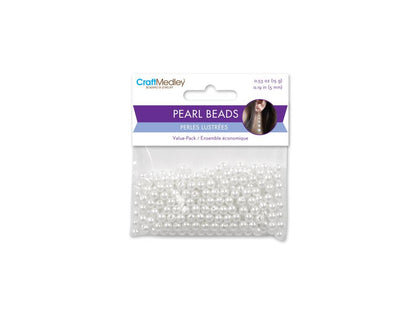 5mm Craft Pearls White 265/pk