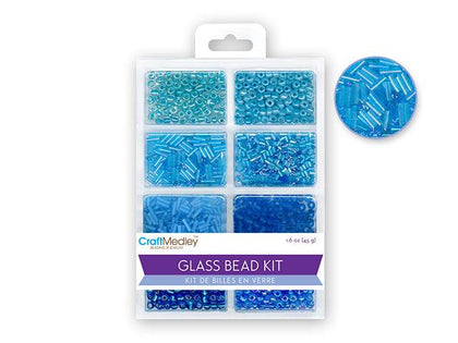 Glass Seed & Bugle Bead Kit - The Blues