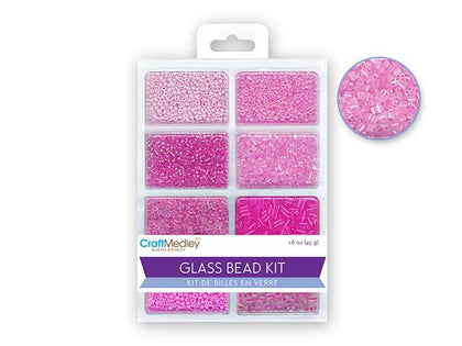 Glass Seed & Bugle Bead Kit - Blush