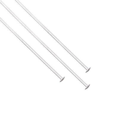 Sterling Silver Head Pins 24g, 2 inch 5/pk