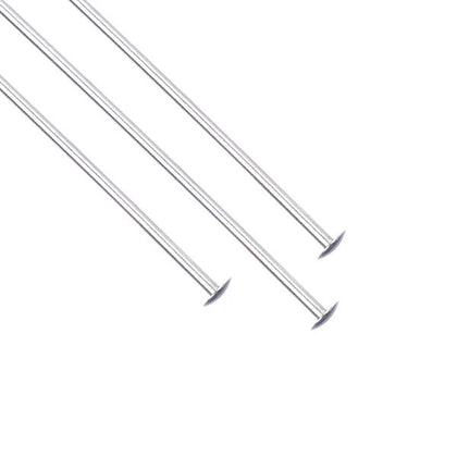 Sterling Silver Head Pins 21g, 2 inch 5/pk