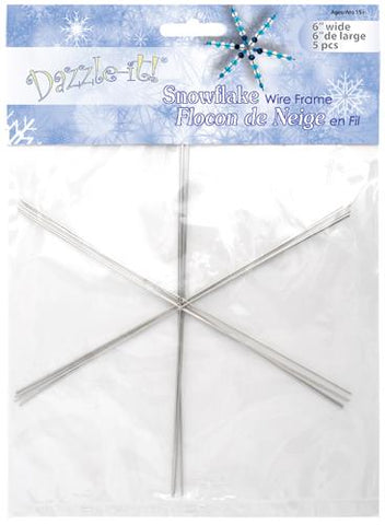 "6"" Snowflake Ornament Form 5/pk"