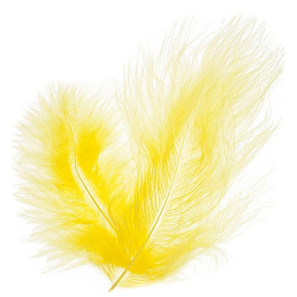 Marabou Feathers Yellow 6g