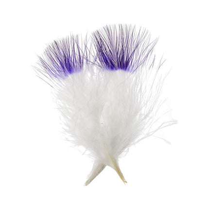 Marabou Feathers Two Tone Purple 6g