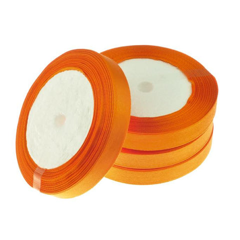 12mm Satin Ribbon Orange 25yd - i-Bead,  12MM