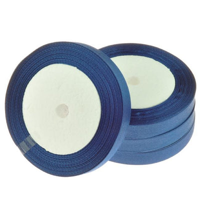 12mm Satin Ribbon Navy Blue 25yd - i-Bead,  12MM