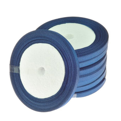 6mm Satin Ribbon Navy Blue 25yd