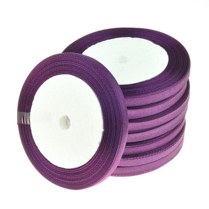 6mm Satin Ribbon Purple 25yd