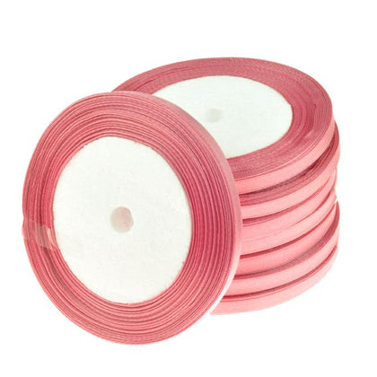 6mm Satin Ribbon Pink 25yd