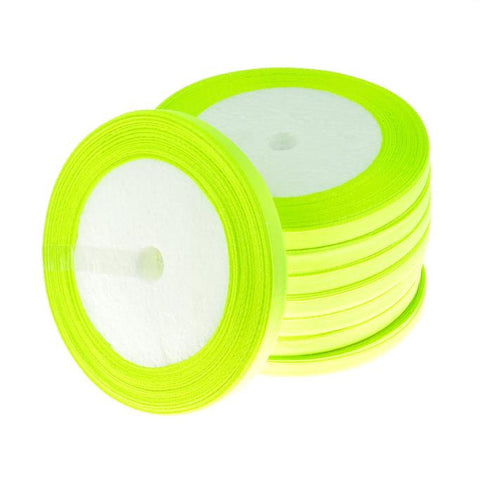 6mm Satin Ribbon Yellow Green 25yd