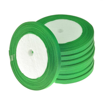 6mm Satin Ribbon Green 25yd