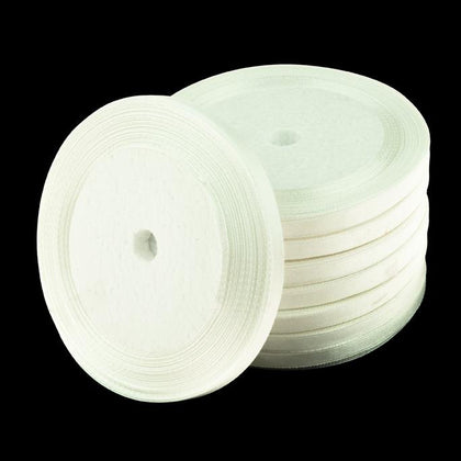 6mm Satin Ribbon White 25yd