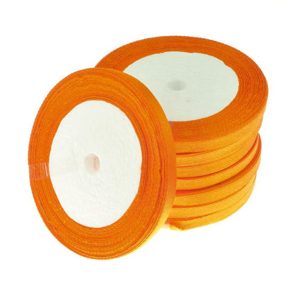 6mm Satin Ribbon Orange 25yd
