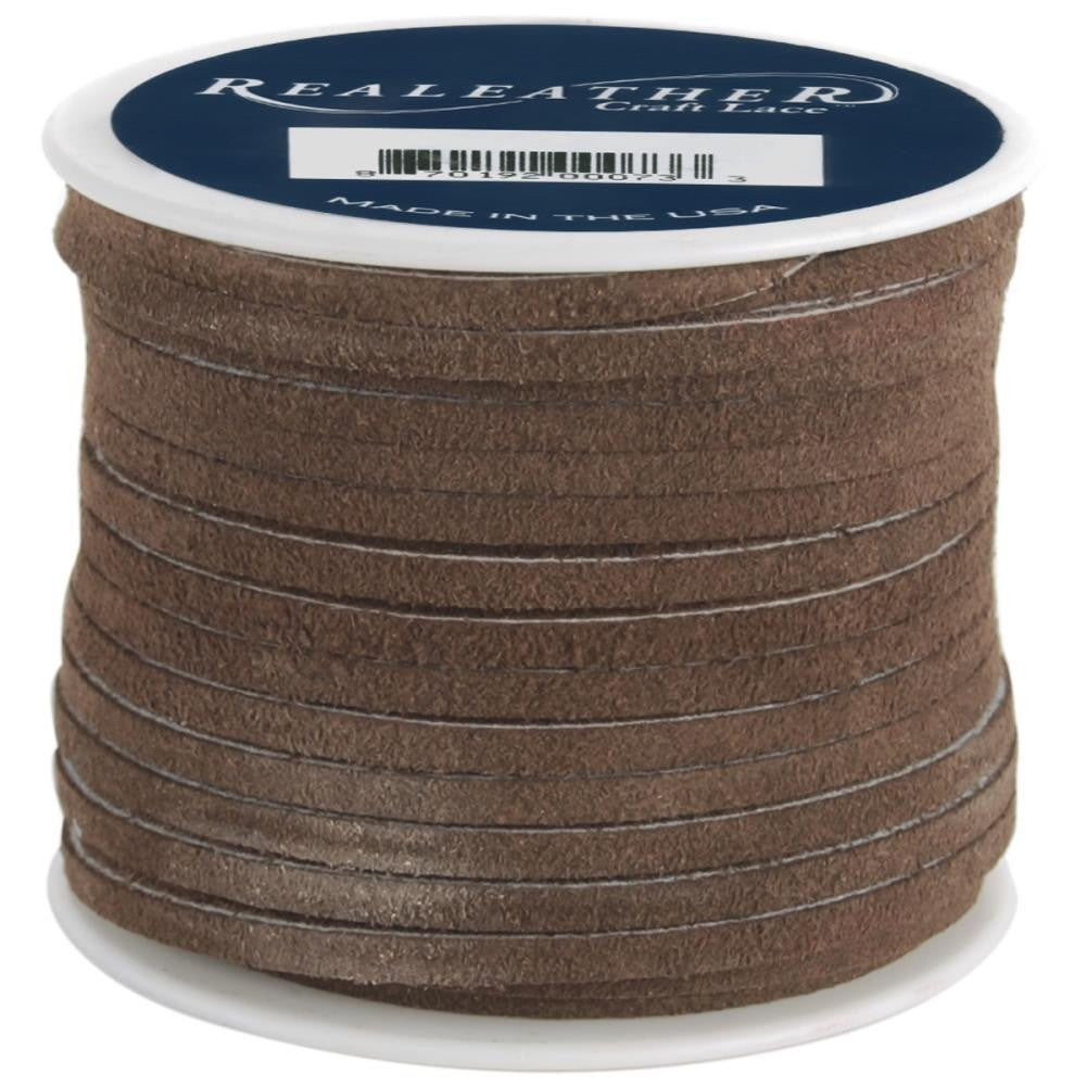 "1/8"" Dark Brown Suede Lacing 25yd"
