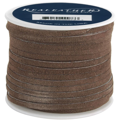 "1/8"" Dark Brown Suede Lacing 25yd - i-Bead,  DARK BROWN"