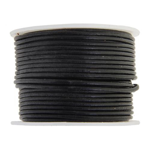 1.5mm Black Leather Cord 25m