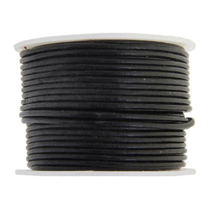 1.5mm Black Leather Cord 25m - i-Bead,  BLACK