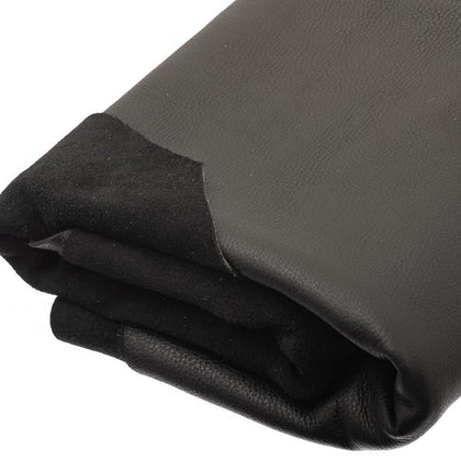 Black Moosehide Leather by the Square Foot