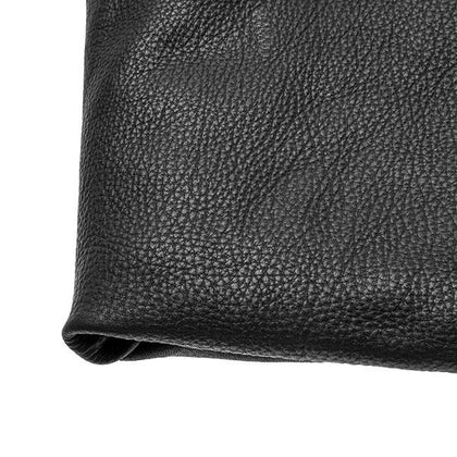 Black Cowhide Leather by the Square Foot