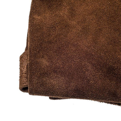 Brown Cowhide Suede by the Square Foot