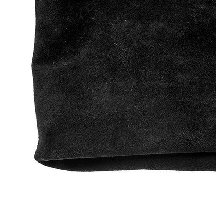 Black Cowhide Suede by the Square Foot