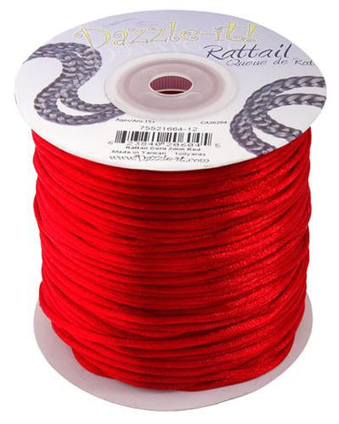 2mm Red Rattail Cord 100yd