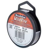10lb Black Wildfire Beading Thread 50yd - i-Bead,  BLACK