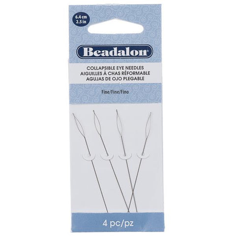Collapsible Eye Beading Needles 4/pk