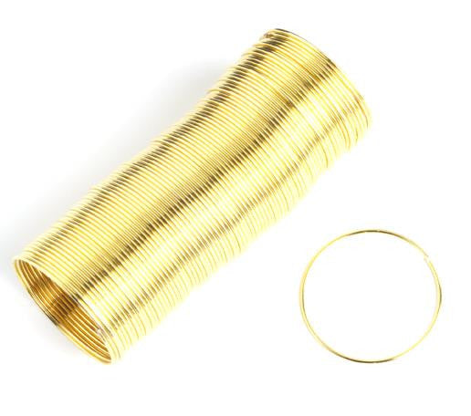 Gold Memory Wire Ring 99 Loops