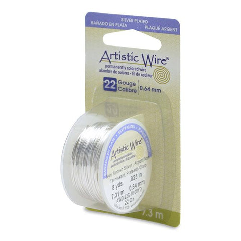 22g Silver Plated Copper Wire 8yd