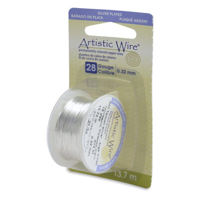 28g Artistic Wire Non-Tarnish Silver 15yd