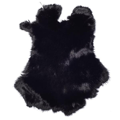 Black Rabbit Fur Pelt