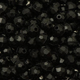 6mm Plastic Facetted Beads 1000/pk - Black