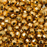 6mm Plastic Facetted Beads 1000/pk - Metallic Gold