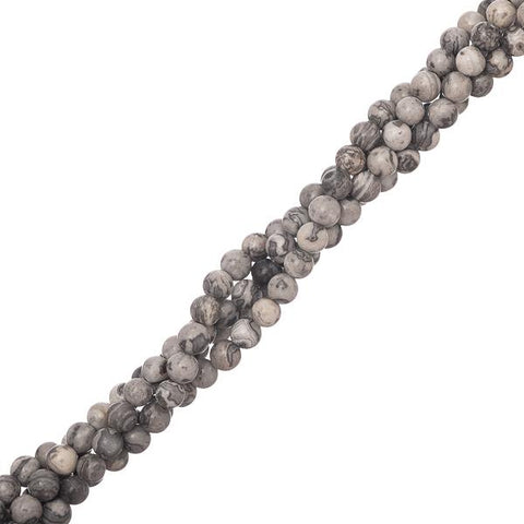 "4mm Netstone Gemstone Beads 15-16"" Strand"