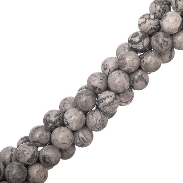 "8mm Mapstone (Natural) Beads 15-16"" Strand"