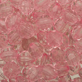8mm Plastic Facetted Beads 1000/pk - Light Pink