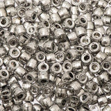 6mm Mini Pony Beads Metallic Silver 500/pk