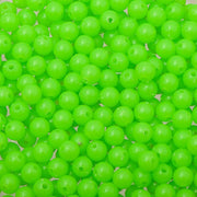 6mm Round Plastic Beads 1000/pk - Fluorescent Green